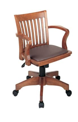Office Star Chairs OSP designs Seating Deluxe Bankers Chair with Vinyl Padded Seat Furniture