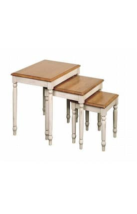Office Star Tables Country Cottage Traditional 3 Piece Nesting Table Furniture