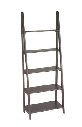 Office Star Book & Show Cases Expresso Ladder Bookcase Furniture