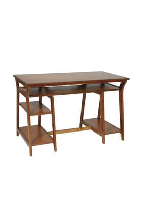 Office Star Desks Trestle Computer Desk With Shelves Furniture