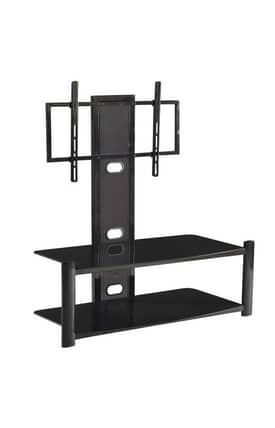 "Office Star TV Stands 46"" 2 Tier TV Stand With Flat Screen Mount Furniture"