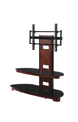 "Office Star TV Stands 50"" Wood and Glass TV Stand With TV Mount Furniture"