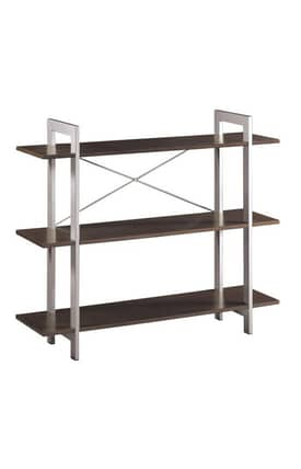 Office Star Book & Show Cases X-Text 3 Tier Bookshelf Furniture