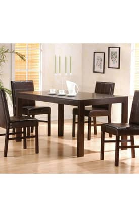 Coaster Company Tables Shoemaker Contemporary Dining Table With Hidden Drawers Furniture