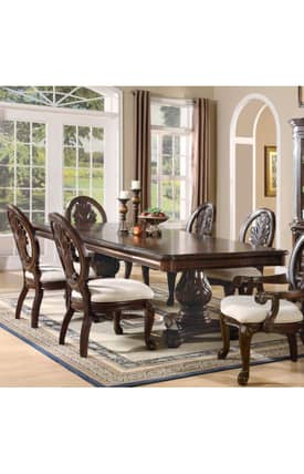 Coaster Company Tables Tabitha Dining Table With Double Pedestal Furniture