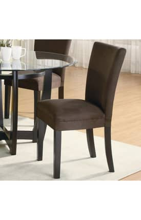 Coaster Company Chairs Bloomfield Microfiber Parson Side Chair (Set Of 2) Furniture