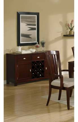 Coaster Company Cabinets El Rey Server Cabinet With Wine Storage Furniture