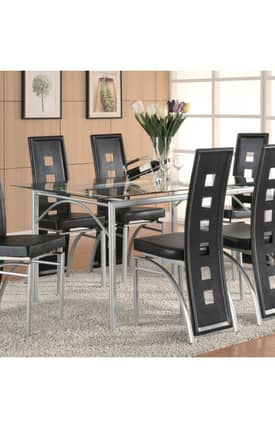 Coaster Company Tables Los Feliz Contemporary Dining Table Furniture