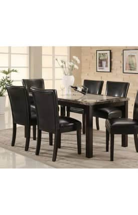 Coaster Company Tables Carter Dining Table With Faux Marble Top Furniture