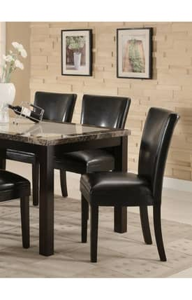 Coaster Company Chairs Carter Contemporary Dining Parson Chair (Set Of 2) Furniture