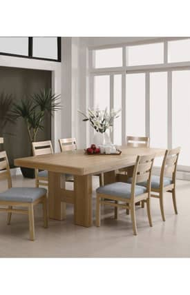 Coaster Company Tables Danby Dining Table With Pullout Extension Furniture