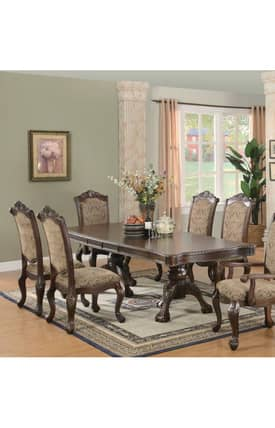 Coaster Company Tables Andrea Double Pedestal Dining Table Furniture