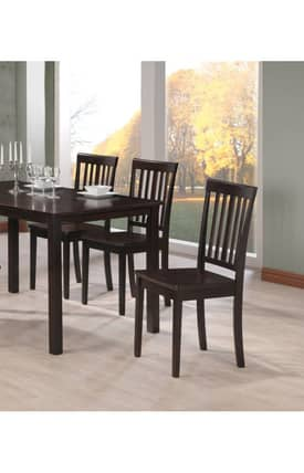 Coaster Company Chairs Venice Contemporary Slat Back Dining Chair (Set Of 2) Furniture
