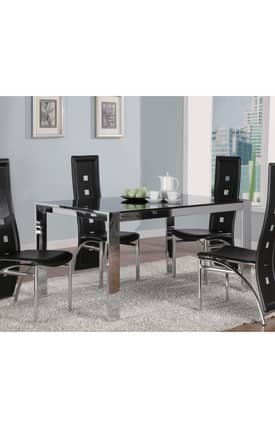 Coaster Company Tables Broward Contemporary Dining Table With Tinted Glass Furniture