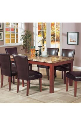 Coaster Company Tables Telegraph Contemporary Marble Top Dining Table Furniture