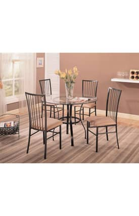 Coaster Company Dining Sets Layne Contemporary 5 Piece Dining Set Furniture
