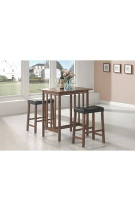 Coaster Company Dining Sets Counter Height Bar Table And Stools 3 Piece Set Furniture