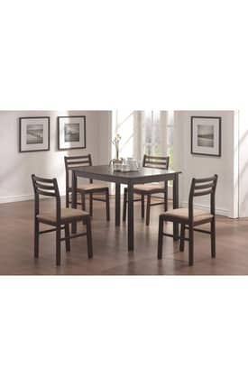 Coaster Company Dining Sets Contemporary 5 Piece Dining Set Furniture