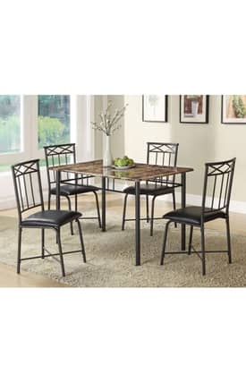 Coaster Company Dining Sets Marble Top Contemporary 5 Piece Dining Set Furniture