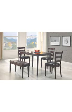 Coaster Company Dining Sets Taraval Contemporary 5 Piece Dining Set Furniture