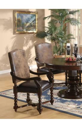 Coaster Company Chairs Riverside Traditional Dining Arm Chair (Set Of 2) Furniture