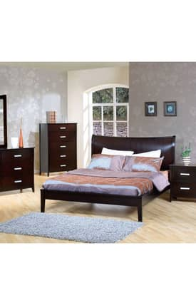 Coaster Company Beds Stuart Contemporary Queen Platform Bed Furniture