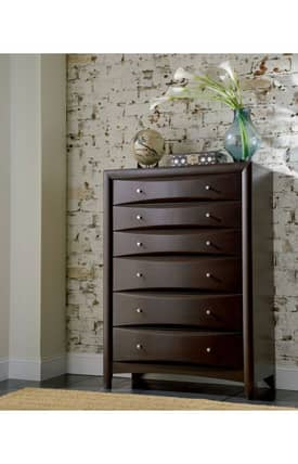 Coaster Company Chests Phoenix Contemporary 6 Drawer Chest Furniture