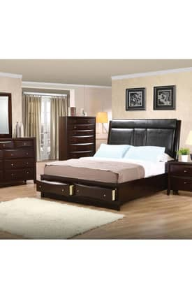 Coaster Company Beds Phoenix California King Upholstered Storage Platform Bed Furniture