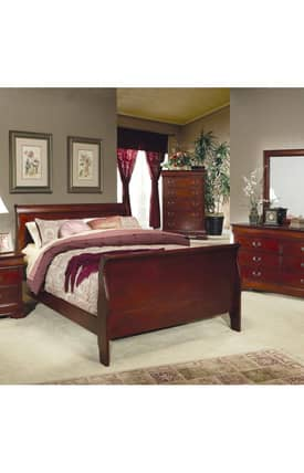 Coaster Company Beds Louis Philippe King Sleigh Panel Bed Furniture