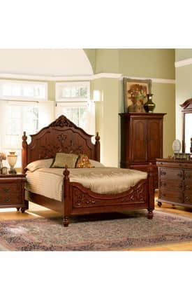 Coaster Company Beds Isabella Traditional King Carves Bed Furniture