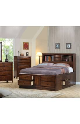 Coaster Company Beds Hillary And Scottdale Contemporary California King Bookcase Bed With Underbed Storage Drawer Furniture