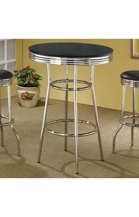Coaster Company Dining Tables Cleveland 50'S Soda Fountain Bar Table Furniture