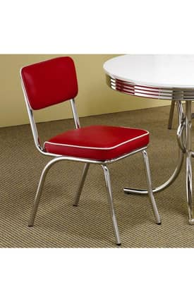 Coaster Company Dining Chairs Cleveland Chrome Plated Side Chair (Set Of 2) Furniture