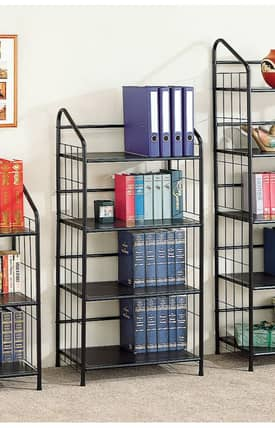 Coaster Company Bookcases Contemporary Four Tier Metal Bookcase Furniture