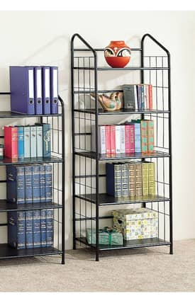 Coaster Company Bookcases Contemporary Five Tier Metal Bookcase Furniture