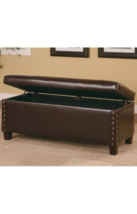 Coaster Company Benches Lewis Upholstered Storage Bench Furniture