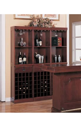 Coaster Company Cabinets Lambert Traditional Wine Wall Bar Unit Cabinet Furniture
