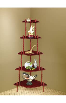 Coaster Company Racks Traditional Five Tier Corner Rack Furniture