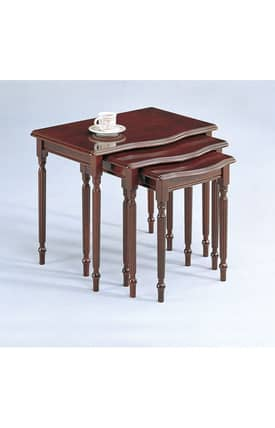 Coaster Company Tables Traditional Three Pieces Nesting Table Furniture