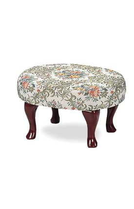 Coaster Company Ottomans Traditional Upholstered Floral Foot Stool Furniture