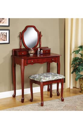 Coaster Company Vanity Sets Traditional Vanity And Stool Set Furniture