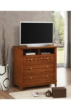 Coaster Company TV Stands Aiden Contemporary Four Drawers Media Chest Furniture