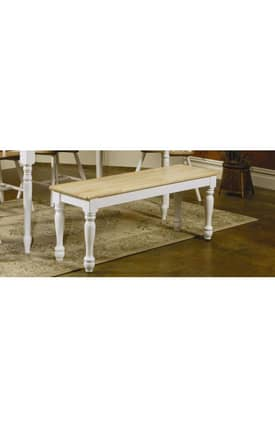 Coaster Company Benches Damen Traditional Wood Dining Bench Furniture
