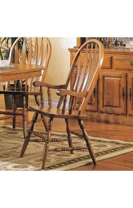 Coaster Company Dining Chairs Mackinaw Windsor Dining Arm Chair (Set of 2) Furniture