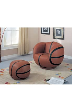 Coaster Company Chairs Kids Large Basketball Chair And Ottoman Furniture