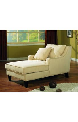 Coaster Company Chairs Microfiber Chaise Lounge Furniture
