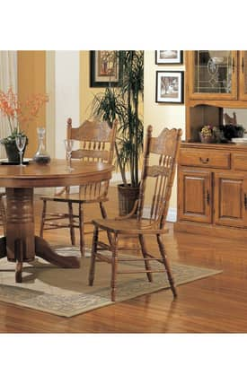 Coaster Company Chairs Mackinaw Victorian Double Press Back Dining Side Chair (Set Of 2) Furniture