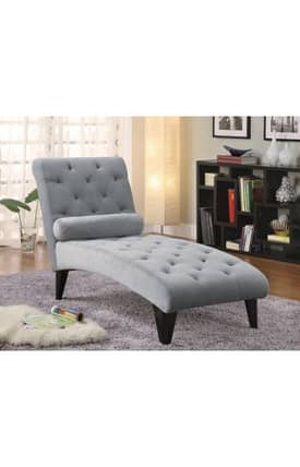 Coaster Company Chairs Contemporary Upholstered Lounge Chaise Furniture