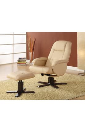 Coaster Company Recliners Contemporary Recliner With Ottoman Set Furniture