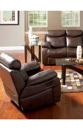 Coaster Company Recliners Denisa Contemporary Leather Rocker Recliner Furniture